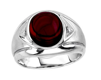 925 sterling Silver Natural Garnet Gemstone Ring Size 8 To 12