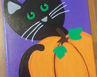 8x10 Halloween Cat