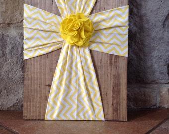 Wood and fabric cross