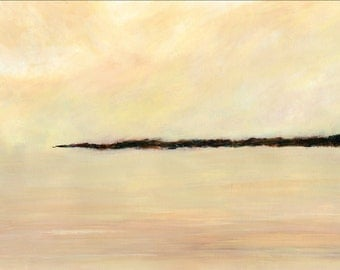 Abstract Landscape Print by Liverpool Artist Kate Chesters