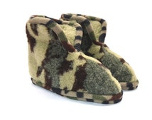 Merino Wool Slippers Moro , Soft Shoes , Boots  House Shoes  , Booties , clogs, Women or Men , Warm and comfortable , Non Slip Leather Soles
