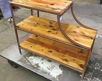 Reclaimed Console Table - Reclaimed Wood - Reclaimed Steel