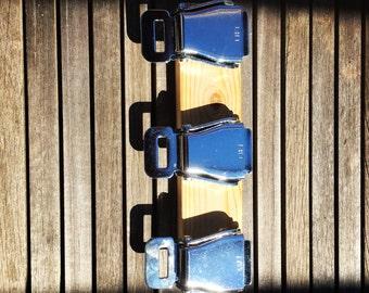Upcycled Aircraft seatbelt key-hooks, key holder, key clips, key safe,wall mounted key rack / holder