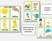 Spring Flashcards, Images, Posters, Printable, Bulletin Board, Literacy Center for Kids, Children, Pre-k and Kindergarten