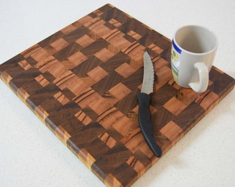 End-grain cutting board made from Australian wood - Can be made to order Inv#7