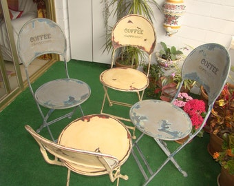 Antique Vintage Steel Chairs, Very Strong