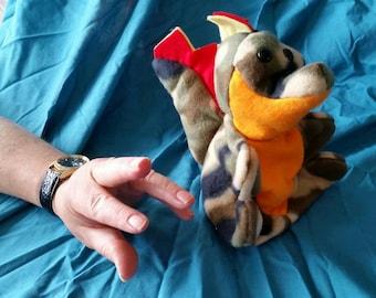 Five Finger Puppet Dragon Camo Fleece
