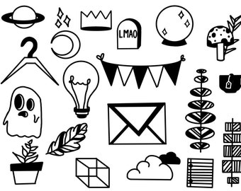 Doodle Temporary Tattoo Pack