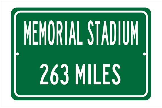 Custom College Highway Distance Sign to Memorial Stadium | Home of the Clemson Tigers | Personalized Distance to Memorial Stadium | ACC