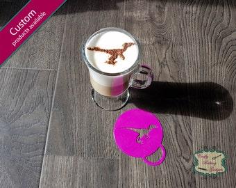 Raptor - Coffee Stencil