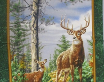 Deer Mountain, Quilting Treasures, wall hanging panel  2/3rd.yard