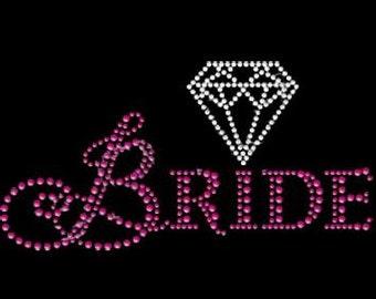 Bling Bride with Diamond, Neon Rhinestuds 6.5x3.5