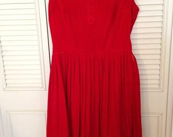 SALE1960's Velvet dress large size