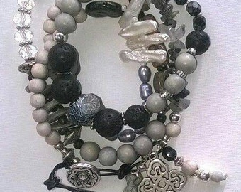 ⭐ Chain bracelet ⭐ grey/black