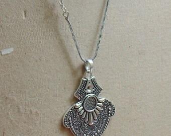 Tribal Pendants | Black Oxidized Pendant | Brass Jewelry | Hand Soldered Pendant | Fashion Boho Jewelry | Beach Jewellery Pendant | P5