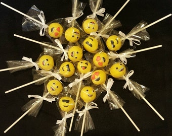 Emoji cake Pops (Order of 13)