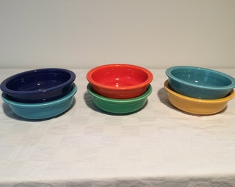 Set of 6 Vintage Fiestaware Fruit Bowls