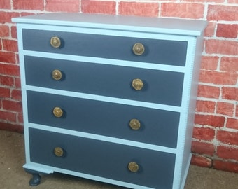 vintage chest of upcycled drawers
