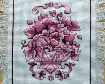 Cross Stitch Rose Table Topper