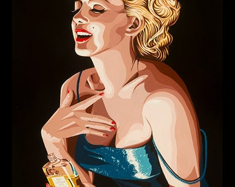 FRAMED Marilyn Monroe Chanel No. 5 24x36 Giclee Poster by Karl Black