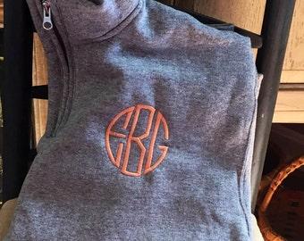 Monogramed Youth 3/4 Zip Sweatshirt