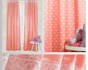 Pretty Pink Ponies Curtains