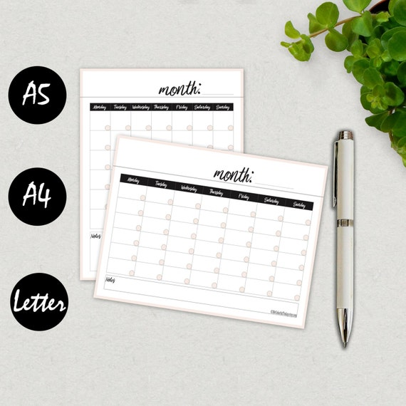 A5 Calendar Template Gallery Template Design Free Download
