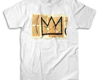 Basquiat Crown White T-Shirt - High-Quality! Ready to Ship!