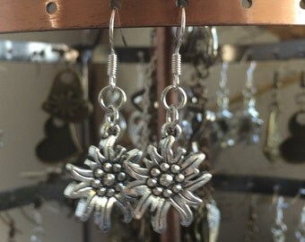 Oktoberfest Edelweiss Earrings