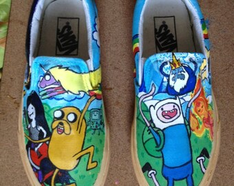 adventure time shoes etsy