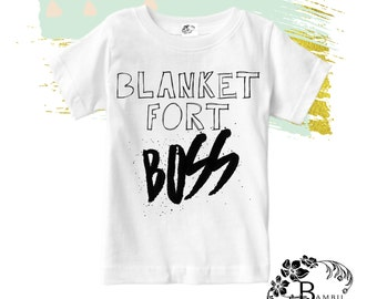 FUNNY BABY TODDLER Graphic Tee / Blanket Fort Boss / Toddler Boys Graphic Tee / Like A Boss / Boss Baby / Toddler Gift / Baby Shower