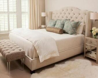 extra tall diamond tufted headboard by mrandmrsinfuso on etsy. Black Bedroom Furniture Sets. Home Design Ideas