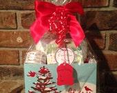 Coconut Lime Verbena Spa Gift Basket Handcrafted Artisan Gift Set Christmas
