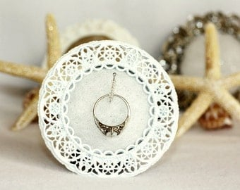 Ring Holder Frame, White Ring Holder, Wedding Ring Holder, Engagement Gift, Ring Frame Holder, Bridal Ring Holder Frame