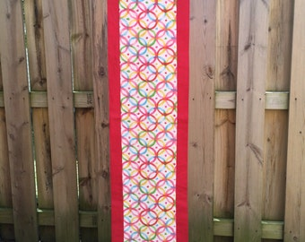 Rectangular, Table runner, Table topper, extra long, picnic, table cover ,red ,green, aqua, yellow