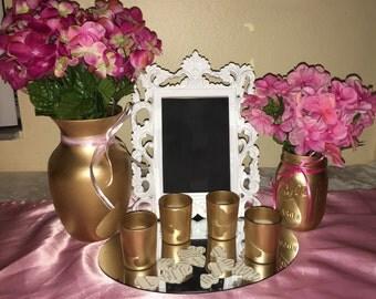Gold Center Piece Set
