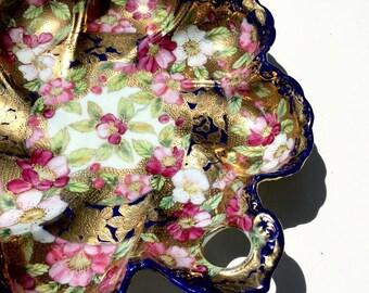 Vintage Nippon Porcelain Large Scalloped Bowl