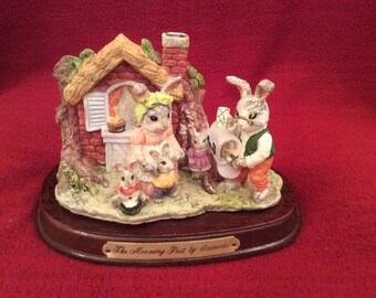 Leonardo Little Nook Village Jasper and Rebbecca Rabbit The Morninig Post (Last chance to buy, this item will not be relisted)