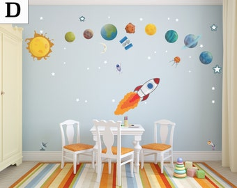 Flying Spaceship Flying Through Planets with an Astronaut - DASHWD10001