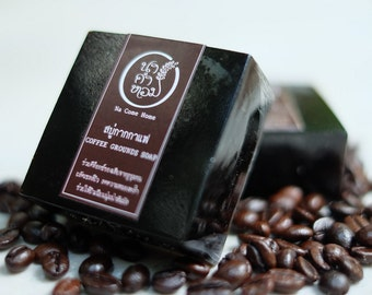 COFFEE GROUNDS SOAP - Handmade Soap, Organic Soap, Handcrafted Soap, Natural Soap