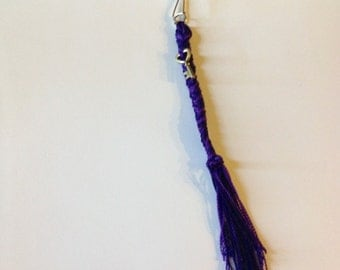 Braided key ring with charm