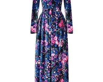Nina Ricci Velvet Floral Dress