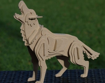 Dire Wolf 3D Animal Wooden Toy Puzzle : Game of Thrones inspired