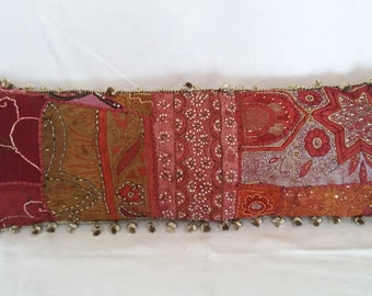 Sequined and Beaded Crazy Quilt Bolster