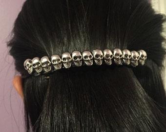 Skull French Barrette