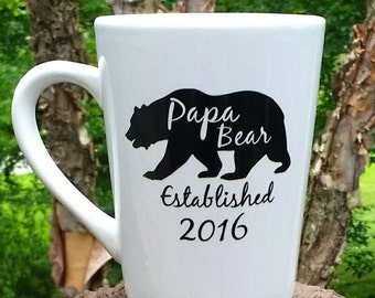 Papa Bear Mug! Father's Day Gift/ Gift for Dad / Gift for Grandpa / Gift for New Dad Personalized