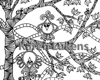 Romeo Flips, 1 Adult Coloring Book Page, Printable Instant Download