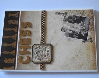 Handmade Man's Birthday Card (Chess)