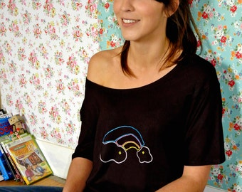 "t-shirt women ""Over the rainbow"""
