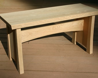White Oak Hall Bench